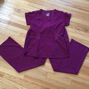 Jockey maroon scrubs